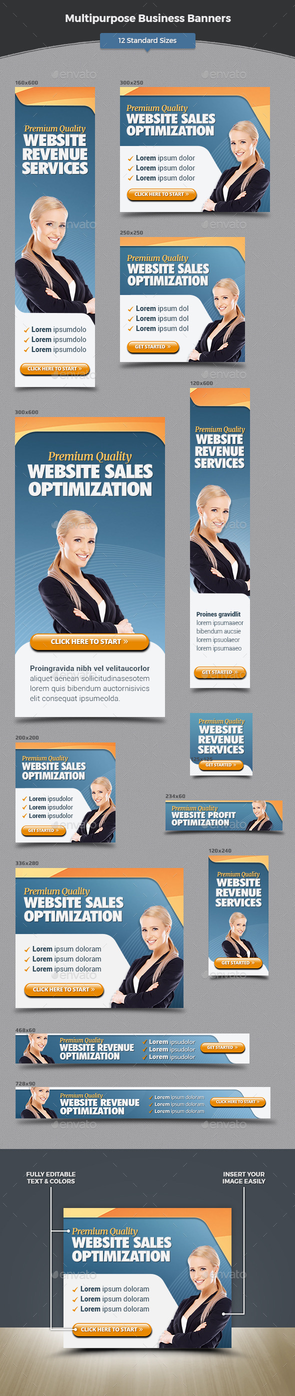 Multipurpose Business Banners - Banners & Ads Web Elements