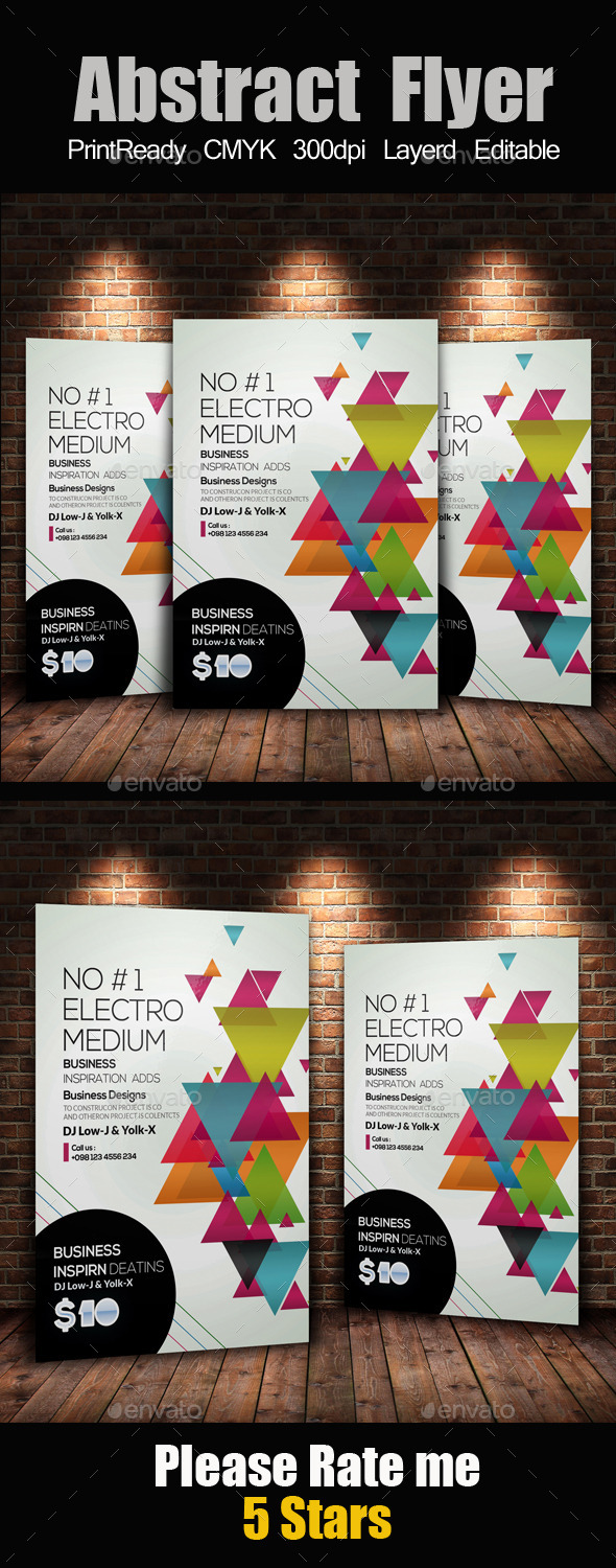 Creative Business Flyer Template - Clubs & Parties Events