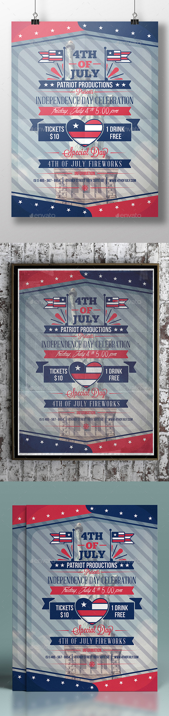 4th Of July Flyer Template - Clubs & Parties Events