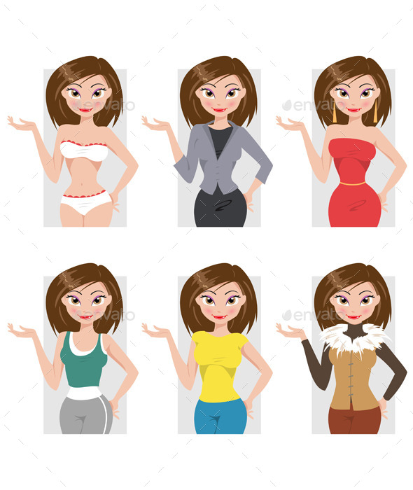 Different Styles of Clothing - People Characters