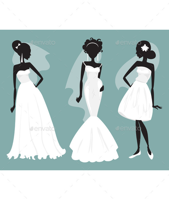 Set Brides in Various Wedding Dresses - Weddings Seasons/Holidays