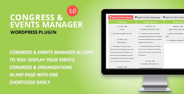 Congress and Event Manager WordPress Plugin
