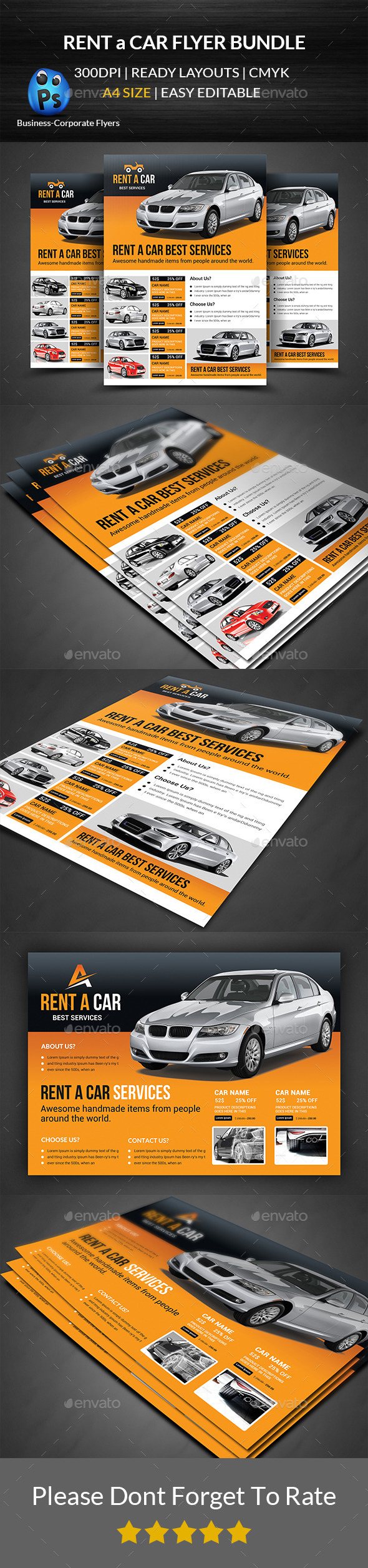 Rent a Car Flyer Bundle - Corporate Flyers