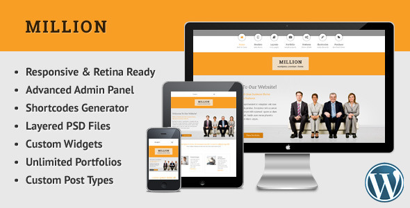 Million – Retina Responsive Multipurpose WP Theme