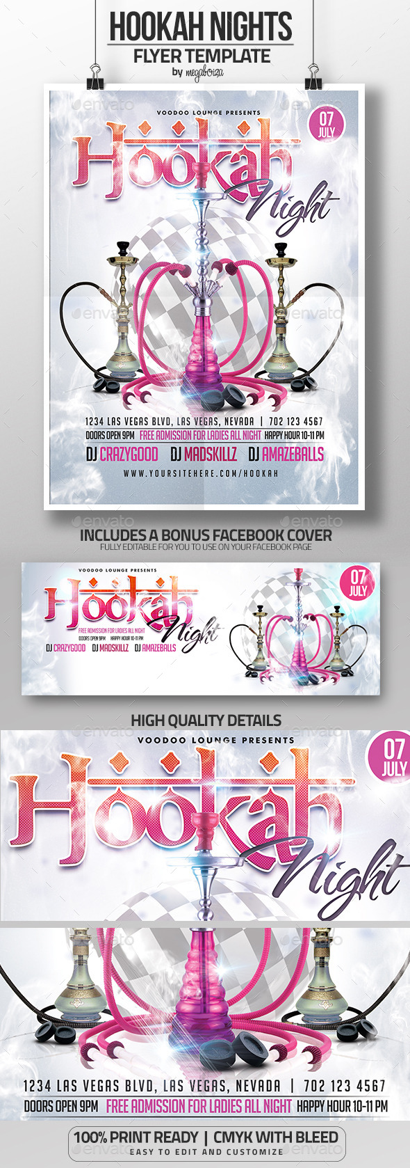 Hookah Night Flyer / Poster Template - Clubs & Parties Events