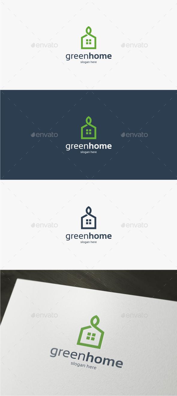 Green Home - Logo Template - Buildings Logo Templates