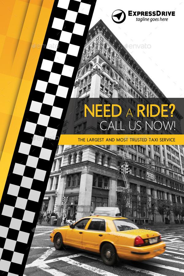 Taxi Cab Drive Table Tent V02