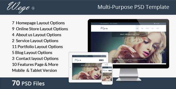 Wego | Multi-Purpose PSD Template - Business Corporate