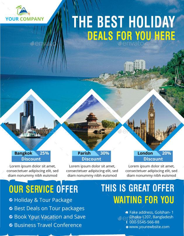 tour amp travel flyer by zakirhossain499152 graphicriver