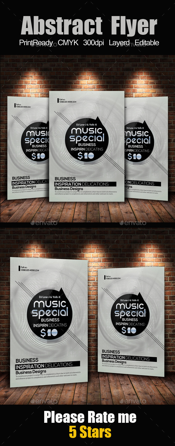 Electro & Futuristic Flyer Template - Clubs & Parties Events