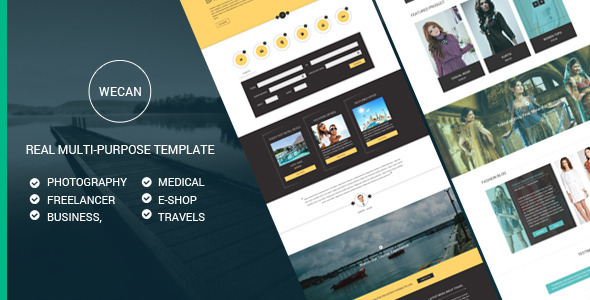 WeCan | Multi-Purpose PSD Template