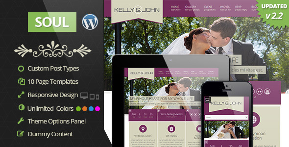 Soul – Responsive WordPress Wedding Theme