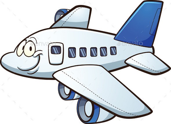 Cartoon Airplane - Travel Conceptual