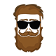 Beard Logo - GraphicRiver Item for Sale