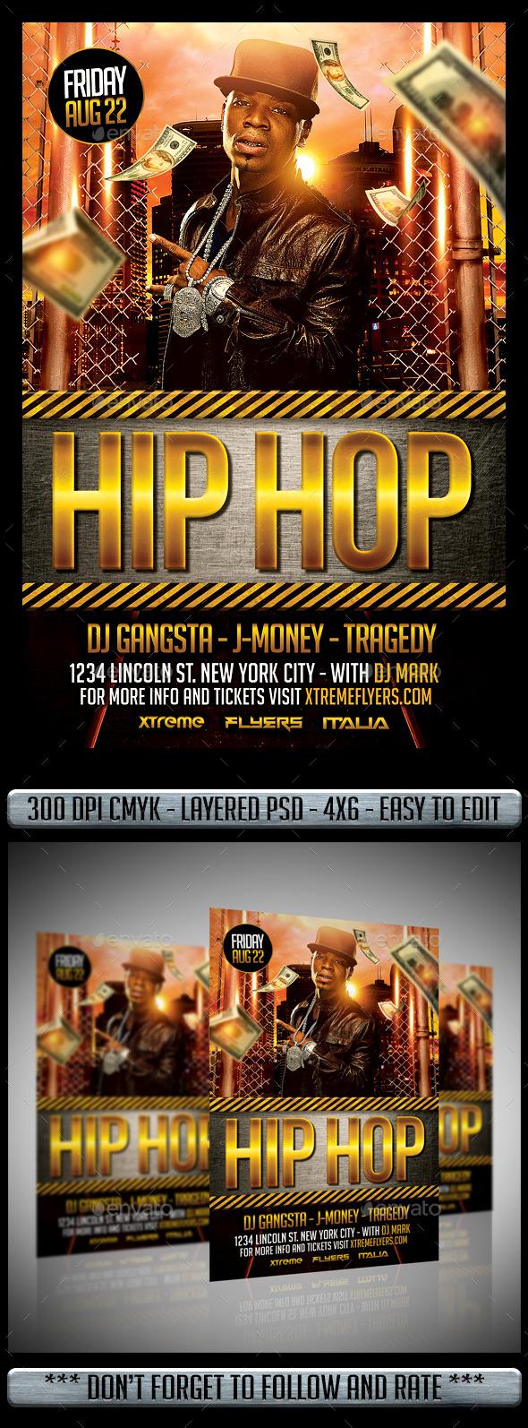 Hip Hop Flyer - Flyers Print Templates