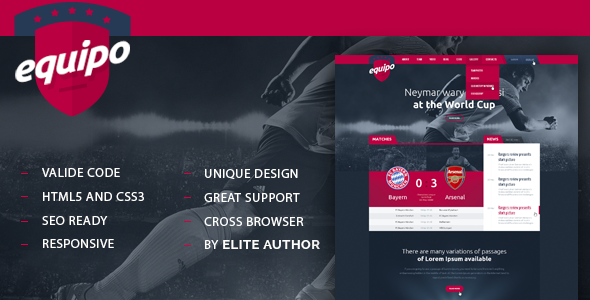 Equipo Responsive HTML Template