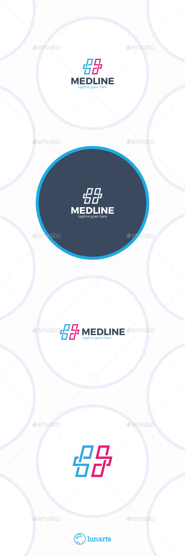 Medical Line Cross Logo - Symbols Logo Templates