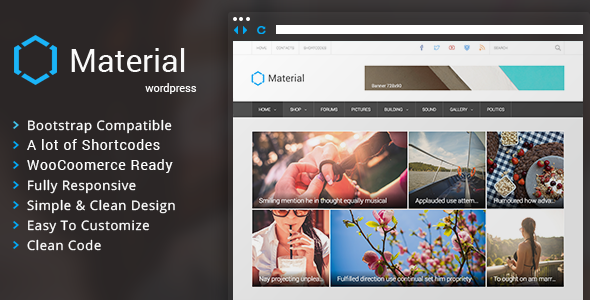 Material – Premium Magazine WordPress Theme