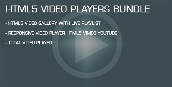 HTML5 Video Players Bundle - CodeCanyon Item for Sale