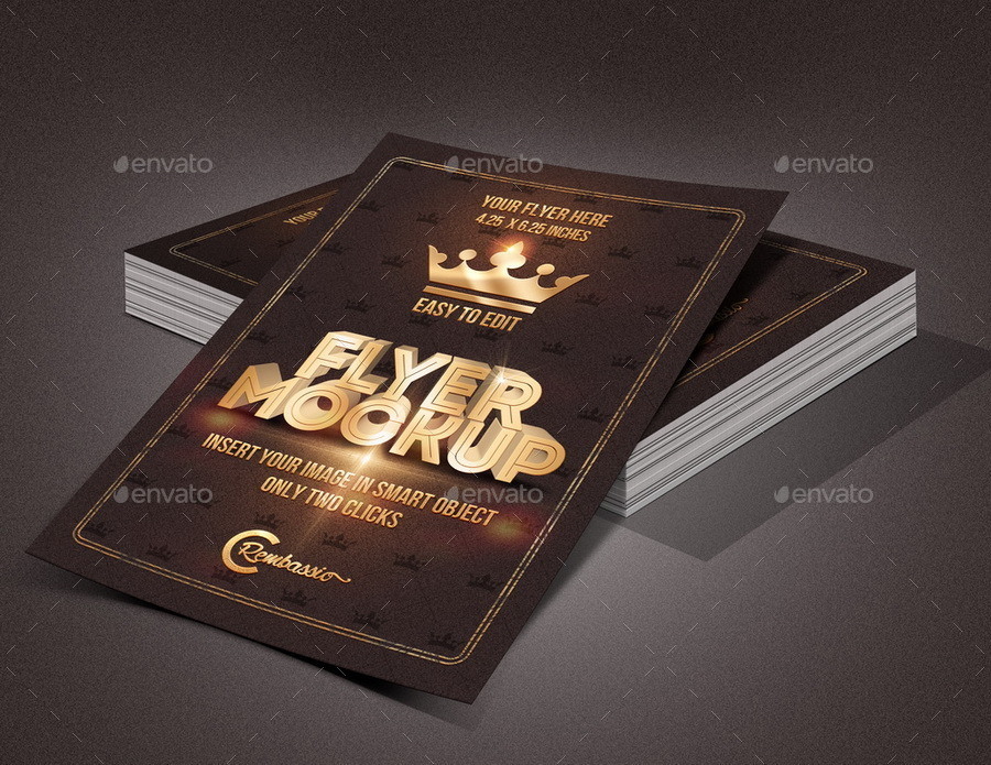 flyer mockup by rembassio