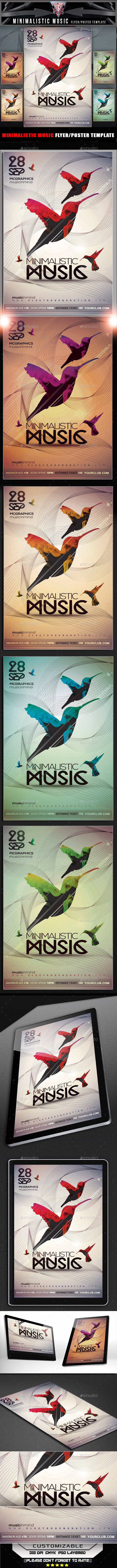 Minimal Music Flyer Template - Flyers Print Templates