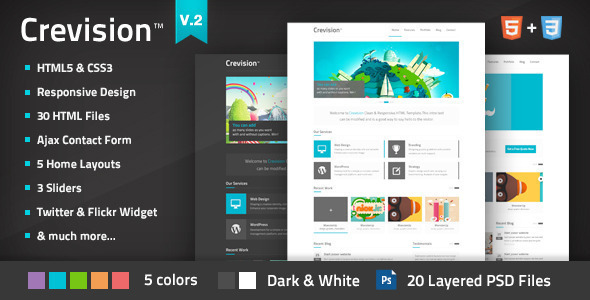 Crevision - Responsive HTML Template - Creative Site Templates