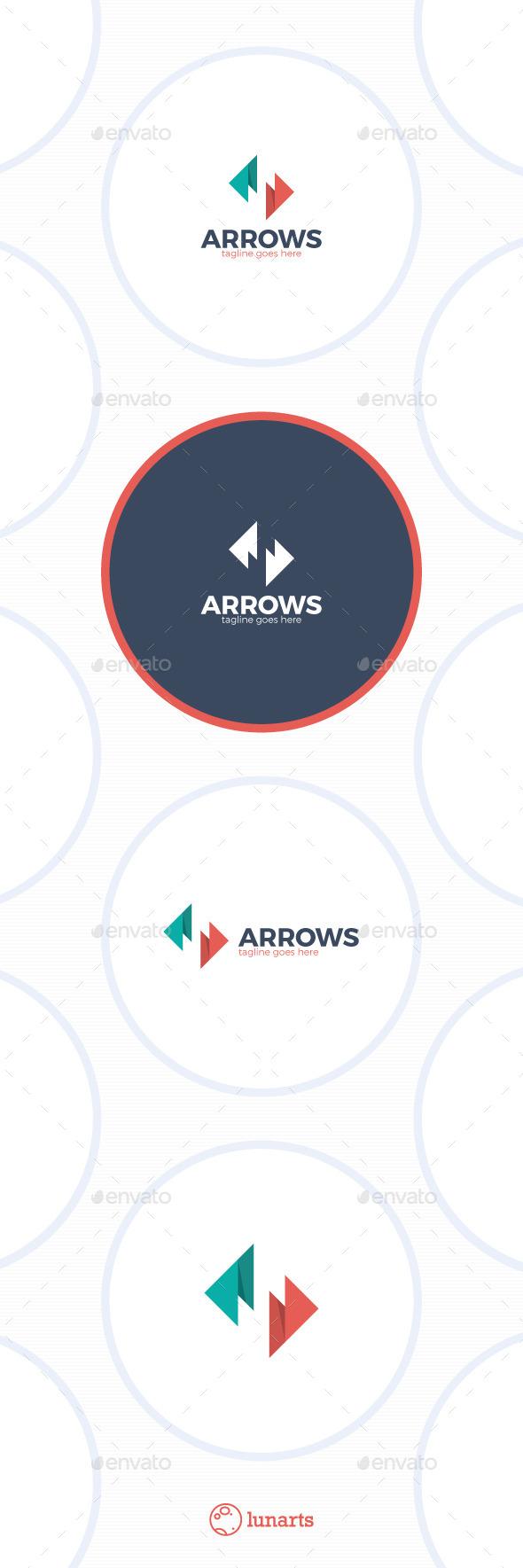 Arrows Letter S Logo - Letters Logo Templates