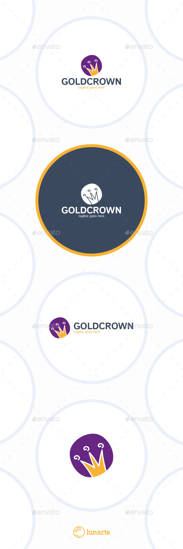 Gold Crown Logo - Cartoon - Symbols Logo Templates