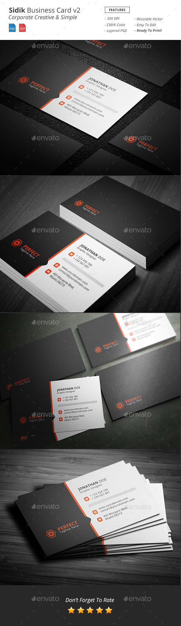 Sidik - Creative Business Card v2 - Business Cards Print Templates