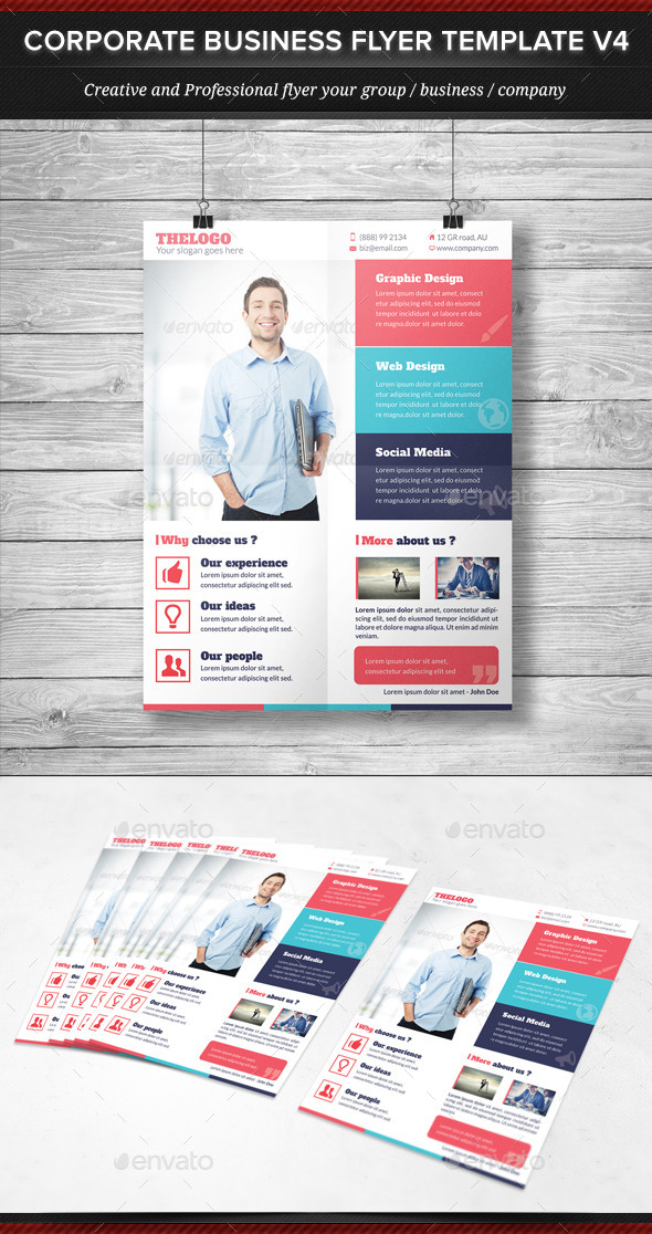 Corporate Business Flyer Template V4 - Corporate Flyers