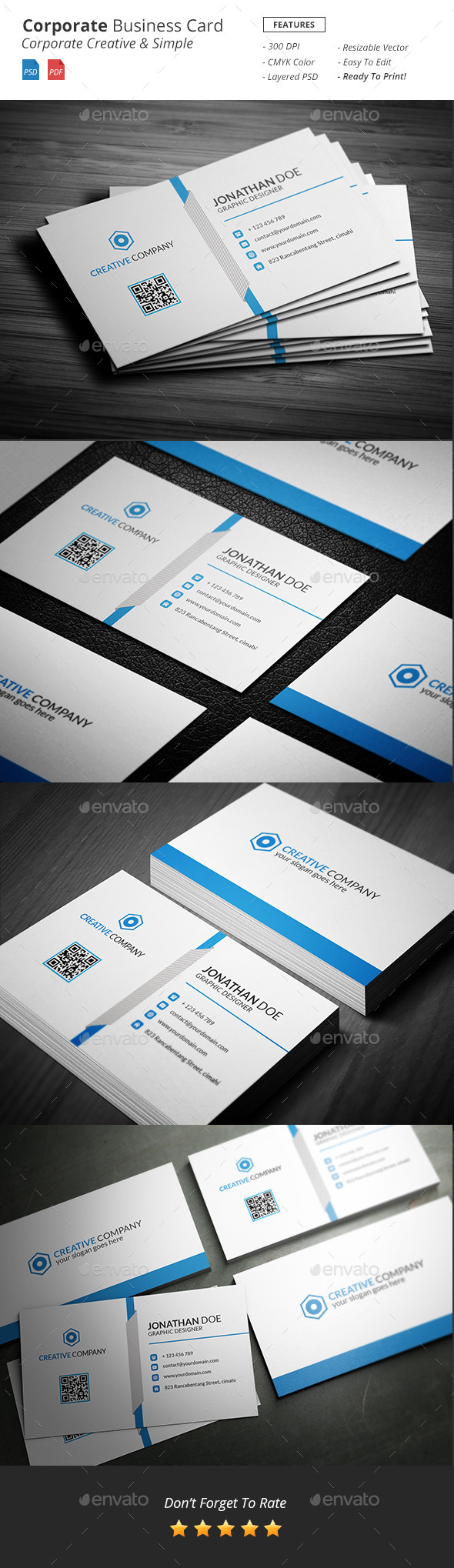 Corporate - Business Card - Business Cards Print Templates