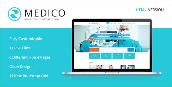 Medico -Medical & Health HTML5 Template - Health & Beauty Retail