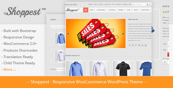 Shoppest – Responsive WooCommerce WordPress Theme