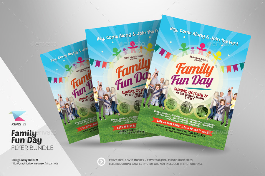 Family Fun Day Flyer Bundle By Kinzishots Graphicriver