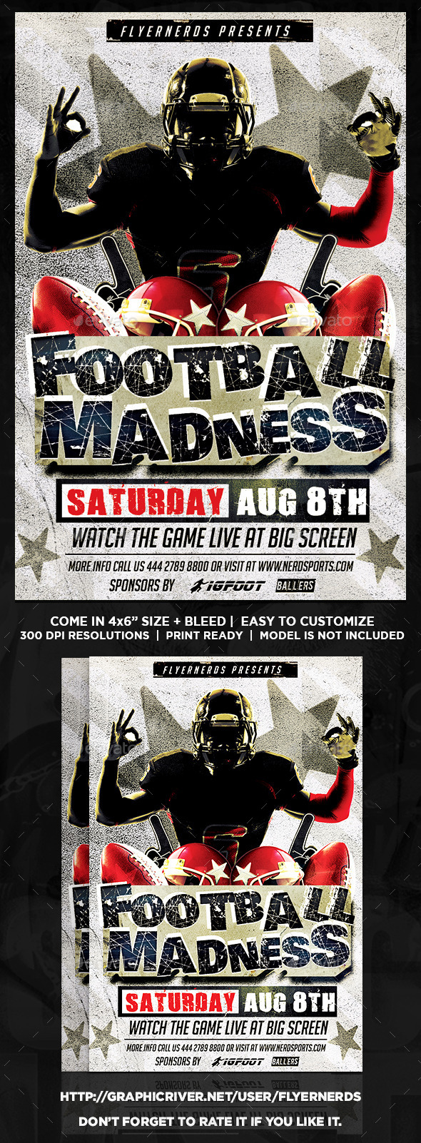 Football Madness 2K15 Sports Flyer - Sports Events