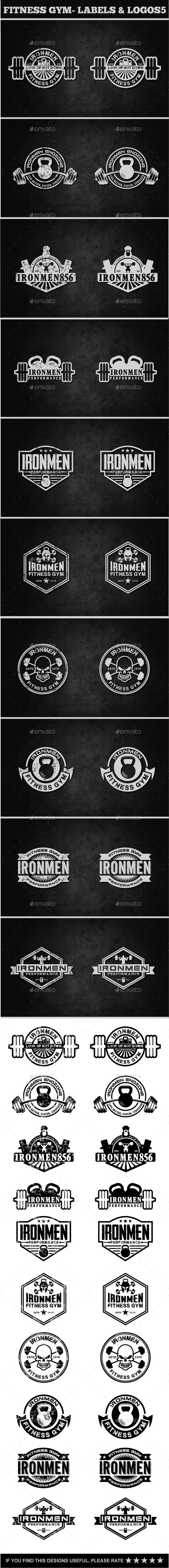 Fitness Gym - Labels & Badges - Badges & Stickers Web Elements