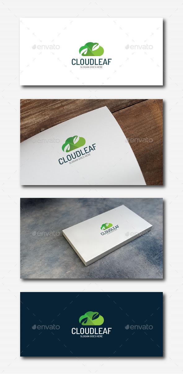 Cloud Leaf Logo - Nature Logo Templates