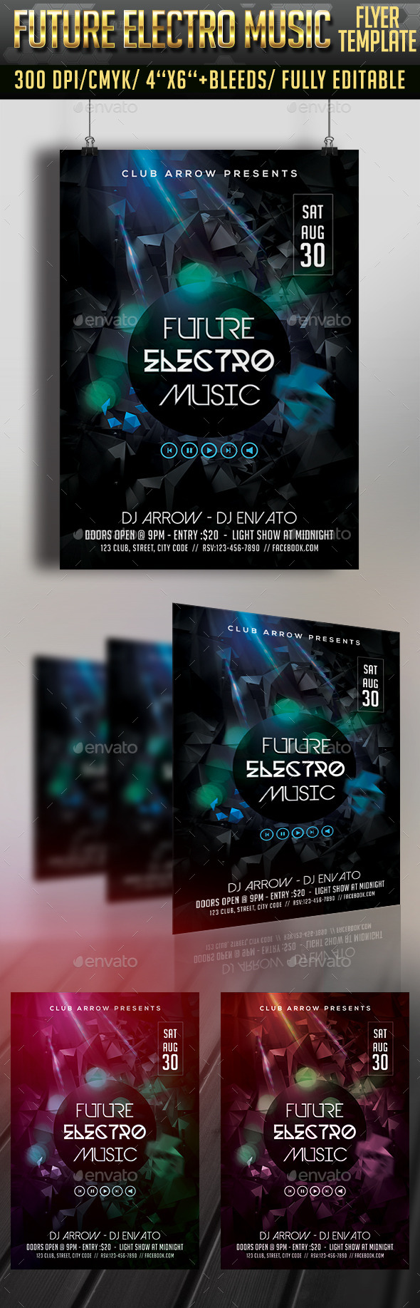 Future Electro Sounds Flyer - Clubs & Parties Events
