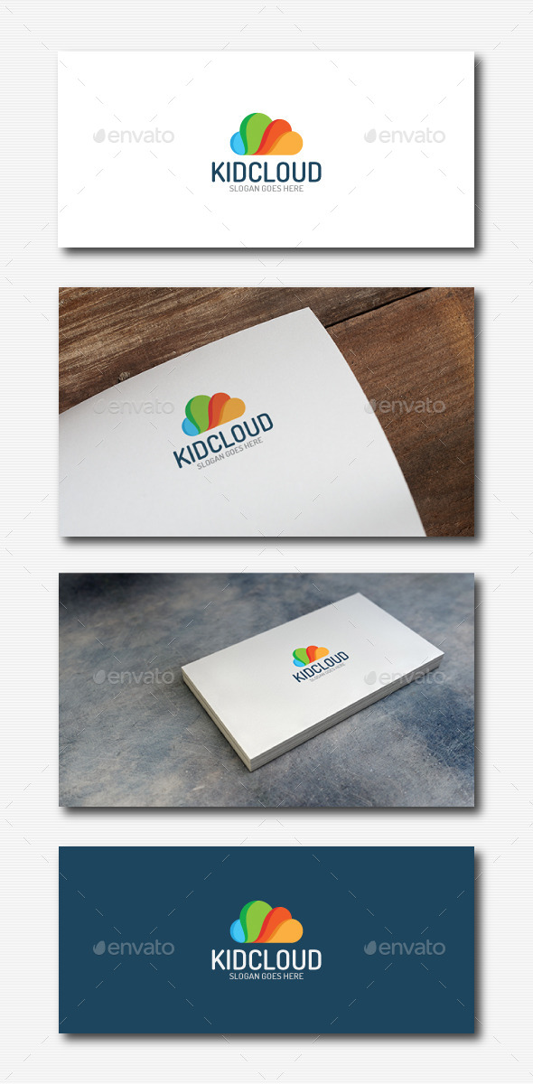 Colorfull Cloud Logo - Abstract Logo Templates
