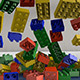 Plastic Toys Bouncing Over Tiled Floor - VideoHive Item for Sale
