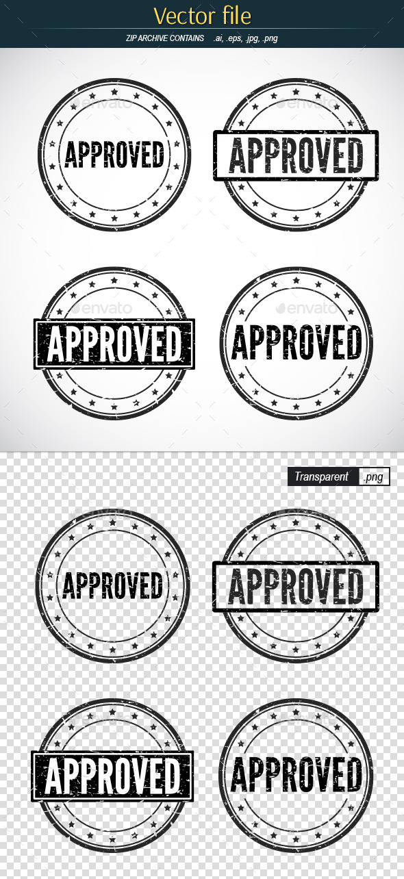 Approved Stamp - Vector Template - Concepts Business