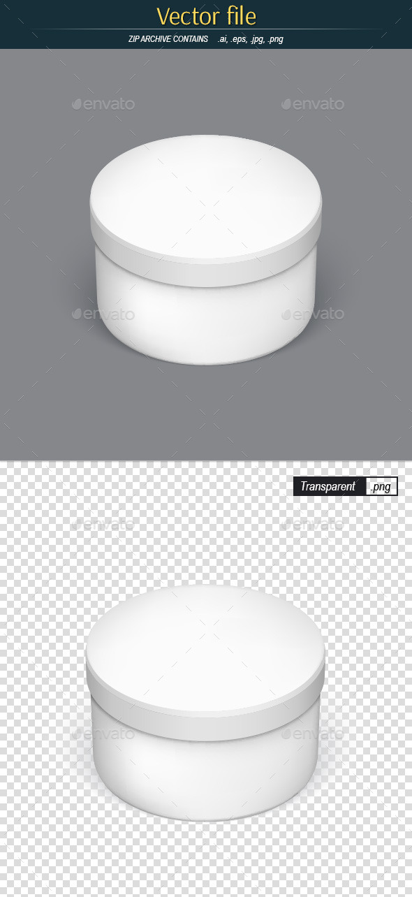 Round Packaging Template for Your Design - Man-made Objects Objects