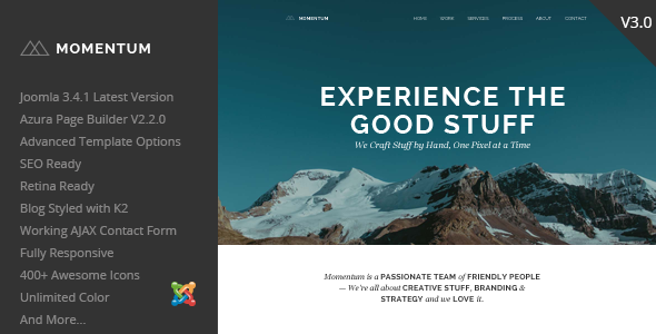 Momentum – Simple Creative OnePage Joomla Template