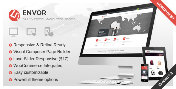 Envor – Fully Multipurpose WordPress Theme