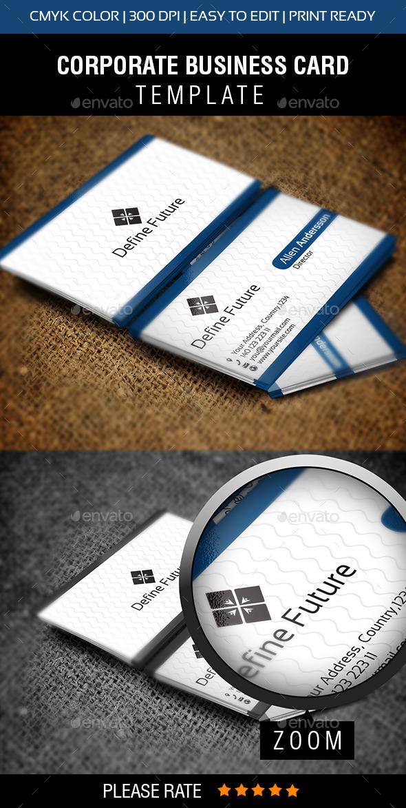Define Future New - Corporate Business Cards