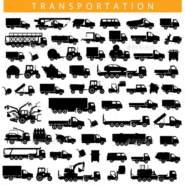 Vector Transportation Pictogram - Industries Business