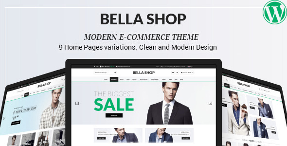 Bella – eCommerce Shop WordPress Theme