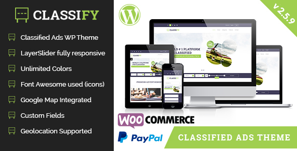 Classify – Classified Ads WordPress Theme