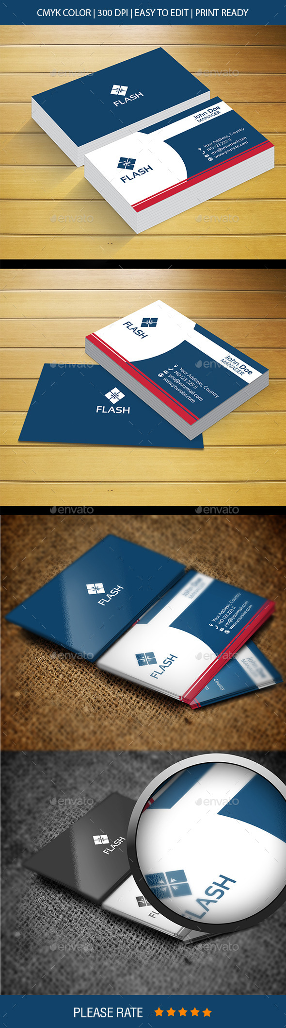 Flash New Business Card - Corporate Business Cards