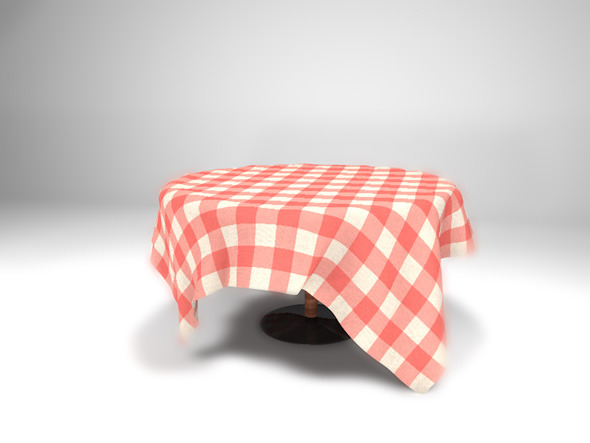 Round Table With Table Cloth  - 3DOcean Item for Sale